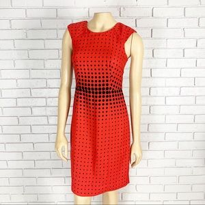 J. Crew Factory Women's red graphic dot dress